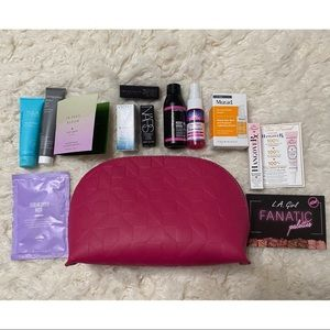 Makeup Bag with Beauty Samples Including Nars